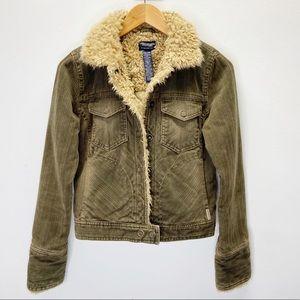American Eagle Sherpa Brown Corduroy Jacket
